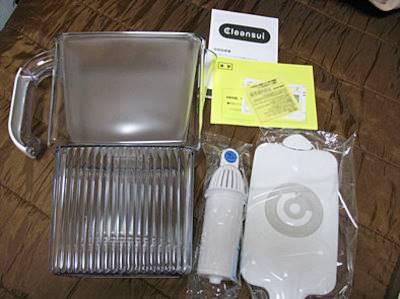 三菱レイヨンのクリンスイのポット型浄水器CP007開封
