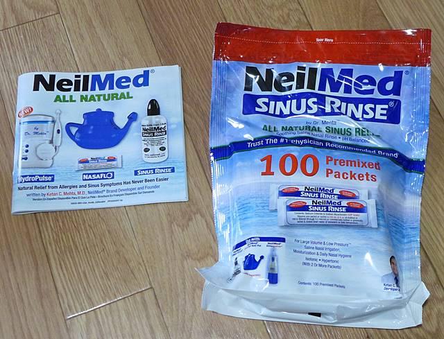 iHerbで格安で購入したNeilMedのサイナスリンスキット100Pその2